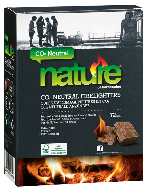 Nature CO2 Neutral Firelighters 72 Pcs Eng